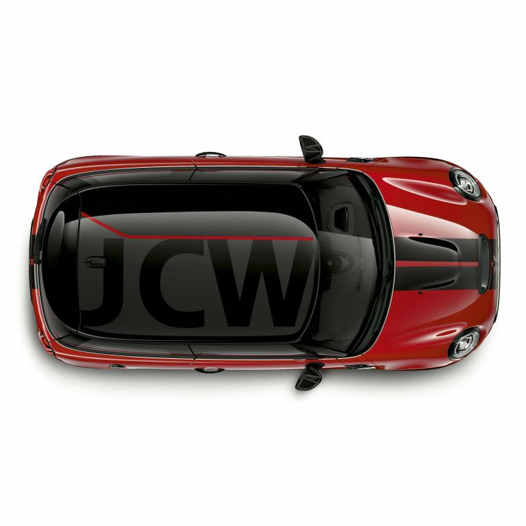 MINI John Cooper Works – red and black – roof decor